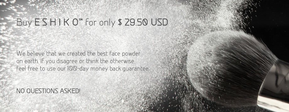 Make Pores Smaller With Eshiko - World's Best Mineral Face Powder